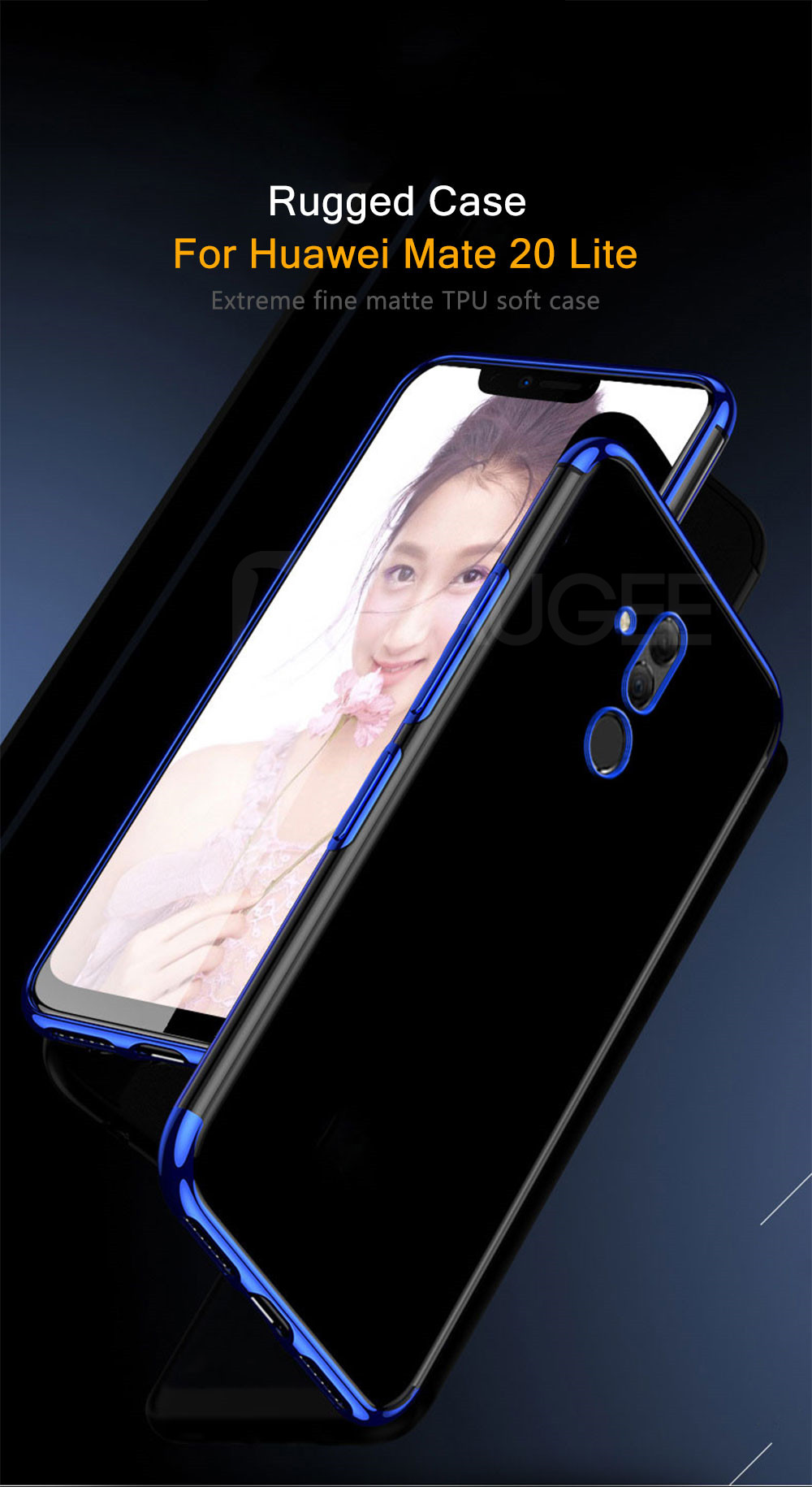 Bumper Case For Huawei Mate 20 Lite Case Luxury Transparent TPU Silicone Plating Shining Cover For Huawei Mate 20 Lite Case