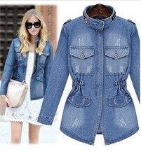 new women's short denim jacket coat jaqueta feminina women slim zipper pockets basic jackets outerwear jeans coat large size
