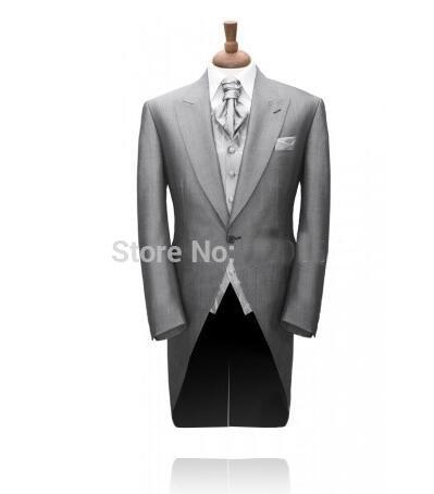Custom Made Morning Coat Mens Wedding Suits Formal Wear/wedding Suit For Men /Groom Wear Tuxedo 3 Piece Set(jacket+Pant+vest)