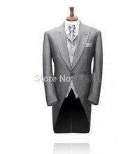 a9861be12c5b4 Custom Made Утро Пальто мужские костюм для свадьбы S торжественная  одежда/Свадебный костюм для мужчин/Жених одежда смокинг 3 шт.