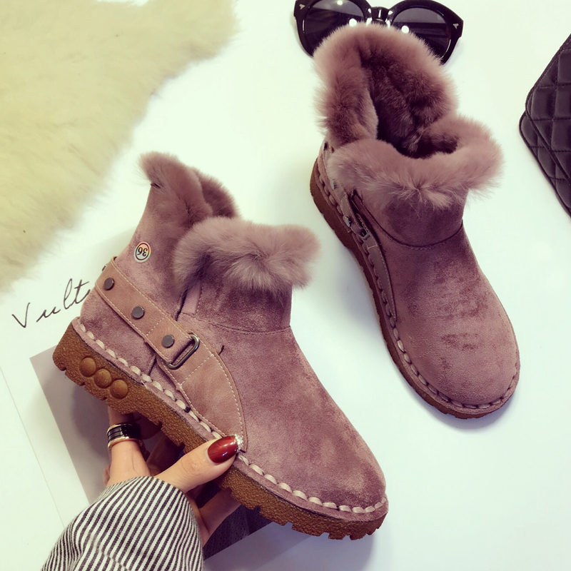 Neige Nouveau Chaussures Hiver Cuir Femme Casual Excargo