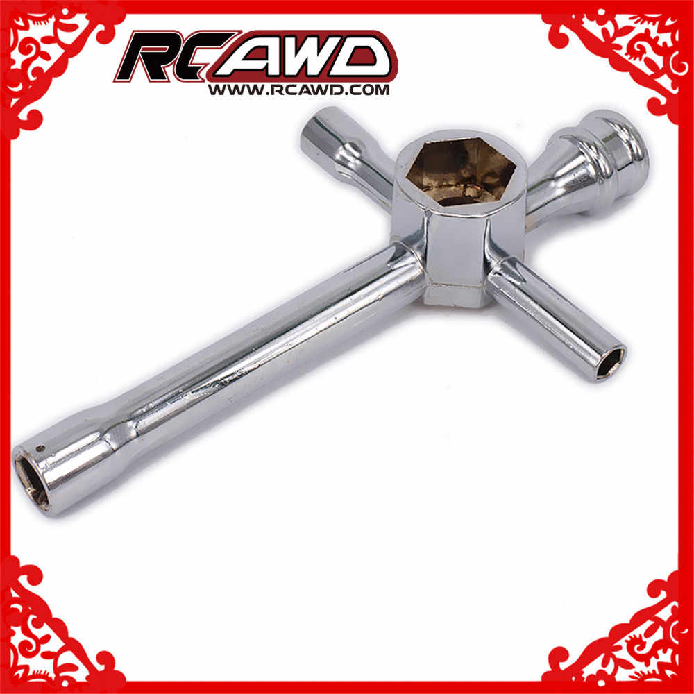 RCAWD Cross Wrench Wheel Wrench Grote Mini Voor RC Model Auto Repareren 7mm 8mm 10mm 12mm 17mm Of 4mm 4.5mm 5.5mm 7mm