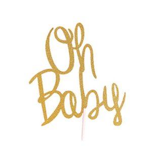 Image 3 - Vàng Lấp Lánh OH Bé Bánh Topper 1St Sinh Nhật Đầu Tiên Đó LÀ MỘT Cô Gái/Bé Trai Bánh Trang Trí đồ Cờ Trẻ Em Đảng cho Bé Làm Bánh Trang Trí
