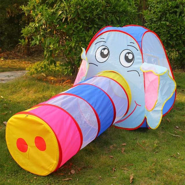 Online Baby Tunnel Toy Multicolor Elephant Tents For Kids Outdoor Toys Aliexpress Mobile