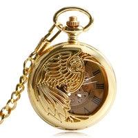 Automatic Mechanical Roman Numerals Vintage Fashion Golden Phoenix Cool Nurse Women Retro Men Pocket Watch Self