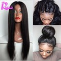 Cheap Full Lace Human Hair Wigs For Black Women Silky Straight Brazilian Full Lace Wig With Baby Hair Glueless Lace Front Wigs