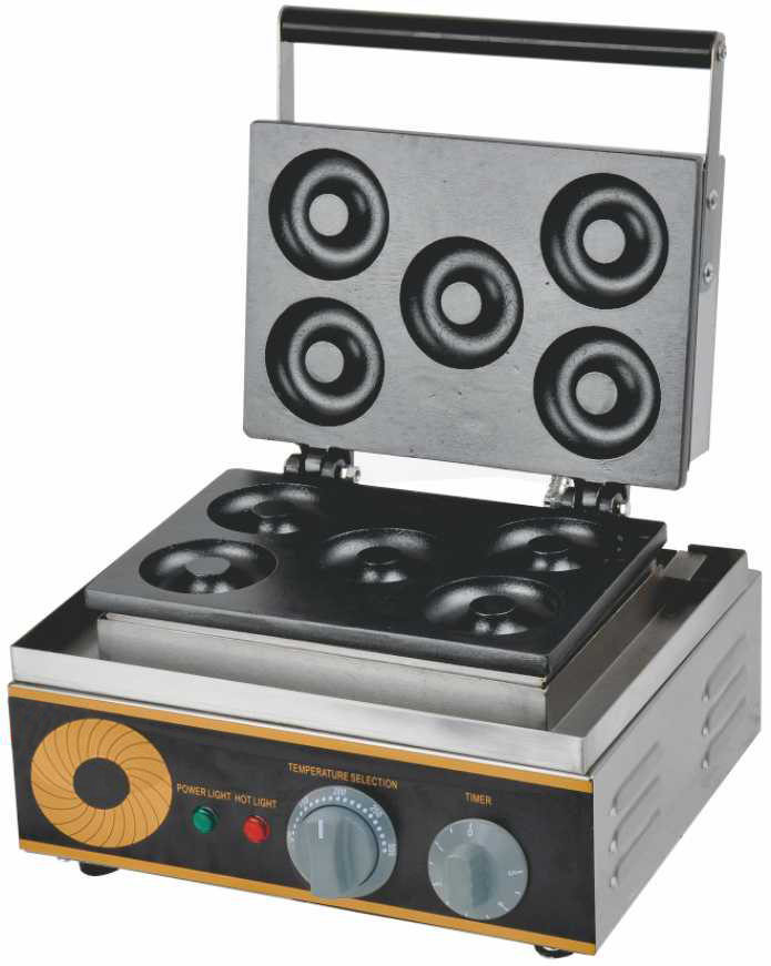Doughnut Machine Donut Making Machine with 5 Molds crisp baking 220v ce criterion