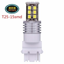 Promotion 2pcs T25 Auto 3156 3456 3156A Bulb Led 2835 15smd External Lamps Clearance Bulbs Car Led Turn Signals Reverse Brake light