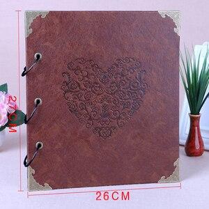 Image 2 - 26x27cm Valentine Scrapbook Photo Album Leather DIY Memory Photo Album For Valentines Day Wedding Birthday Anniversary Gifts