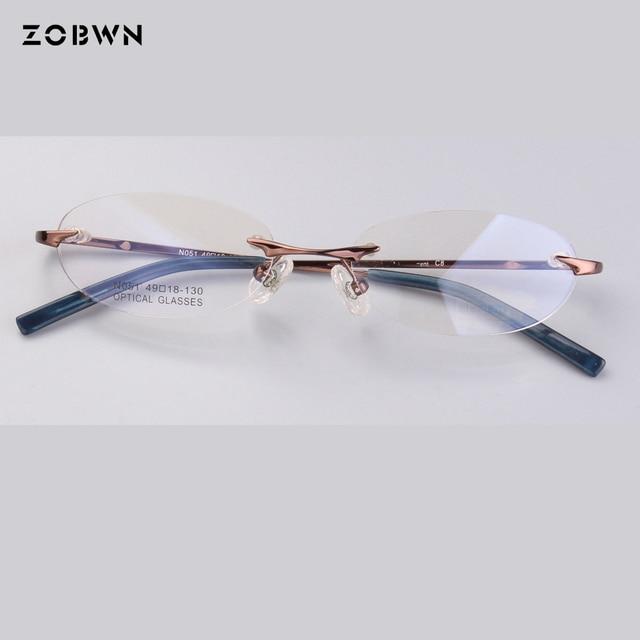 f294dd8f17a Classic rimless Reading Eyeglasses Frame Women Brand casual butterfly  quadros Prescription Glasses Frame Female Eyewear Glasses