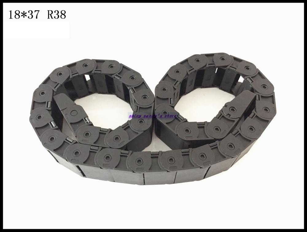 1pcs 18x37mm R38 Cable Drag Chain Wire Carrier with End Connector 18mm x 37mm L1000mm 40 for 3D CNC Router Machine Brand New шпатель stayer master 2к ручка 40мм