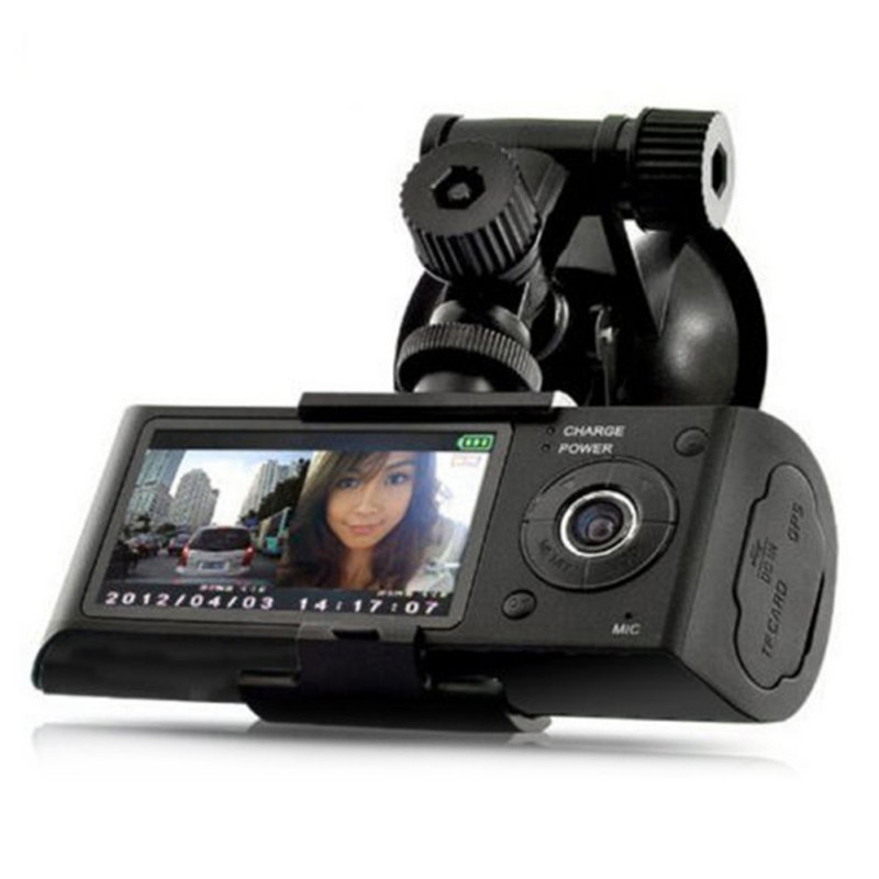 Car DVR Driving-Recorder Camera Dash-Cam G-Sensor Video Dual-Lens Night-Vision HD GPS