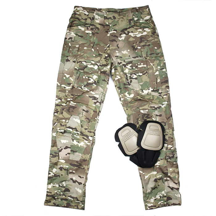 Original Cutting Size G3 Combat Pants Multicam Tactical Pants Men Gear With Knee Pads(STG051180) tmc g3 combat pants w knee pads night camo multicam black law enforcement tactical pants free shipping sku12050486