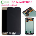 Gold Silver Black LCD for Samsung for Galaxy S5 Neo G903F G903W G903 LCD touch screen display digitizer assembly