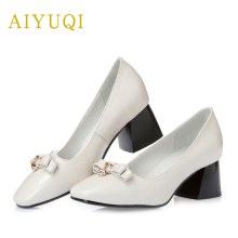 цены AIYUQI 2019 new spring genuine leather women shoes with fashion sexy comfortable breathable casual shoes female