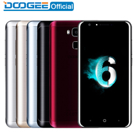 Doogee Y6 Fingerprint Mobile Phones 5 5Inch HD 2GB 16GB Android6 0 Dual SIM MTK6750 Qcta