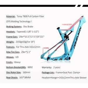 """Image 4 - OG EVKIN cf049 eps carbono mtb quadro de bicicleta 29er ud brilhante bb92 bicicleta conjunto de quadros 15.5 """"17.5"""" 19 """"21"""" fone de ouvido 1 1/8 """"1 1/2"""""""