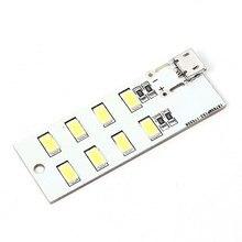 5 шт. Micro USB мобильного Мощность лампа 8 шт. светодиоды Совета аварийное освещение SMD 5730 супер яркий Лампа Подставки для мобильный телефон Зарядное устройство