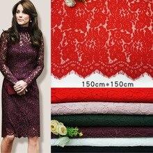 150CM*150CM Hot eyelash Lace Fabric wholesale Jinmian Lace Fabrics  positioning flower mesh cord Cloth for Women Dress
