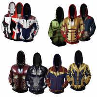 Hoodie Cosplay Avengers Endgame Quantum Reich Sweatshirt Jacke Erweiterte Tech Kostüme Avengers Ende Spiel Haube Superhero Hoodies