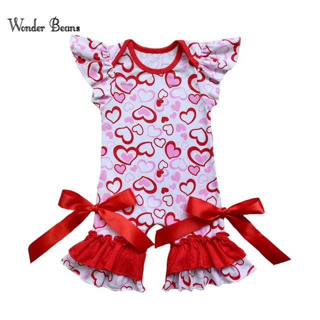9abd17bb05f2 Baby Valentine s Day Outfit Infant Baby Girls Red Heart Ruffle ...