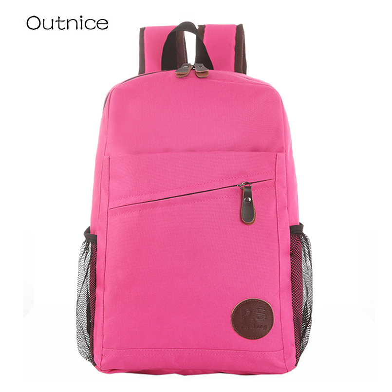 2016 New Fashion Women's Canvas Backpacks Youth Men Student School Bags For Girl Boy Casual Travel Solid Color Bags muchila msmo 2017 new kpop exo canvas backpack sacks women men student school bags for girl boy casual travel exo bags
