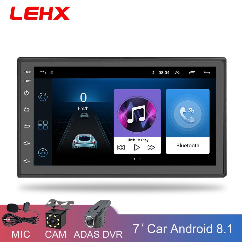 Lecteur Radio de voiture 2 Din Android 8.1 lecteur multimédia universel de voiture Radio Navigation GPS pour Nissan Toyota Hyundai Polo
