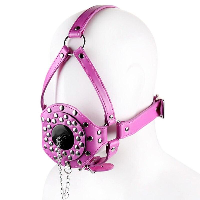Сексуальный косплей собака головной убор кожаный капюшон БДСМ бондаж Фетиш раб повязка на глаза маска колпачок подголовник капот Пром игра одежда в стиле рейв - Цвет: PG0200