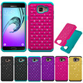 New Hybrid Rubber Bling Crystal Case 2 in 1 High Impact Hard Rugged Case Cover For Samsung Galaxy A3100 A3 2016/A5 2016