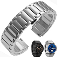 Luxury Brand Men Watches Stainless Steel Strap Butterfly Folding Clasp Replacement Watch Band For Huawei Wristband