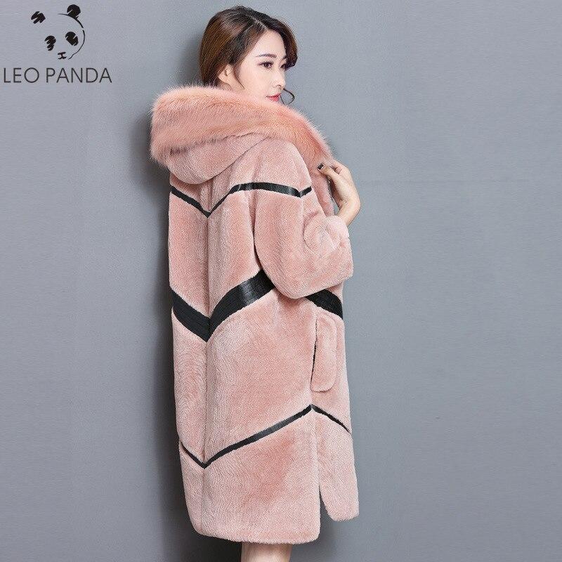 Зимняя Новая модная женская имитация овечьей шерсти, Толстая теплая с длинным пальто 2018 высокого класса, Повседневная шуба LYW22
