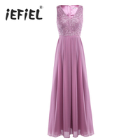 Women Ladies Embroidered Sleeveless 2018 Summer Tutu Long Party Dress Evening Formal Communion Prom Gown Dress for Vestidos