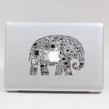 Removable DIY fashion black color cute assembly Elephant tablet sticker laptop computer sticker for laptop,205*270mm
