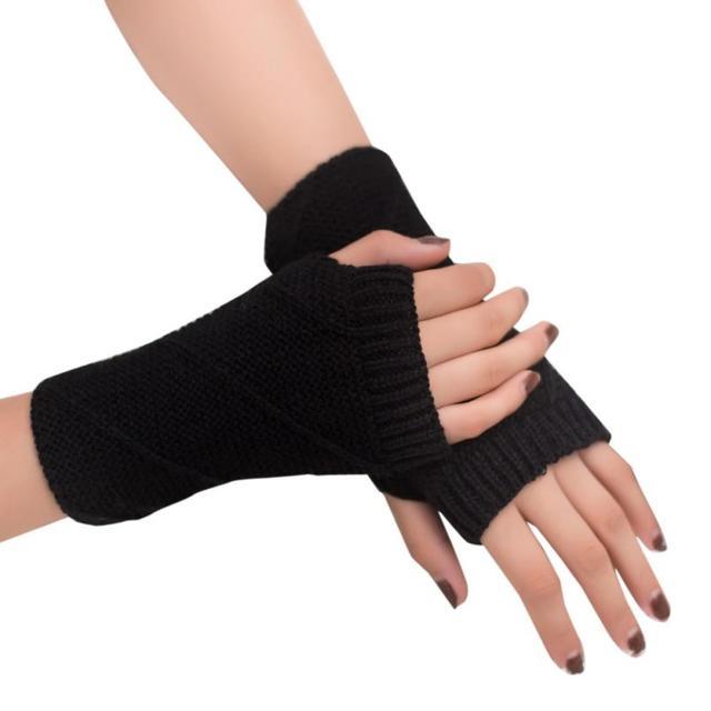 vrouwen vingerloze handschoenen zonder vingers meisje gebreide arm