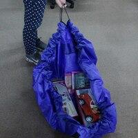 Large Kids Toy Storage Bag Organizer Play Mat Big Size Blue Pink