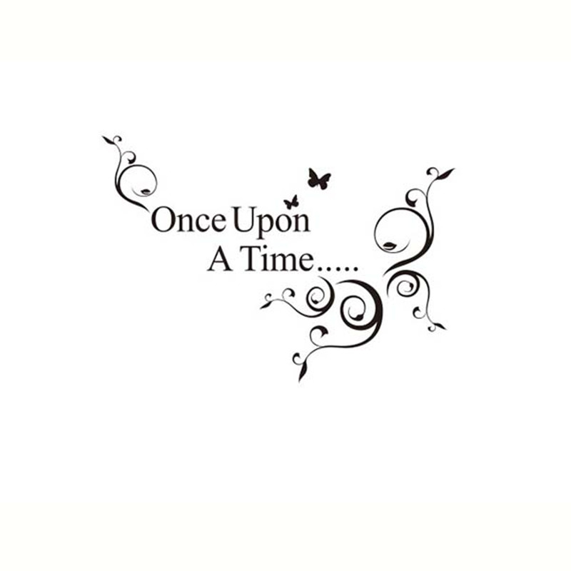 DIY Quotes Once Upon A Time Vinyl Wall Stickers Art Waterproof Home Decor Removable In From Garden On Aliexpress