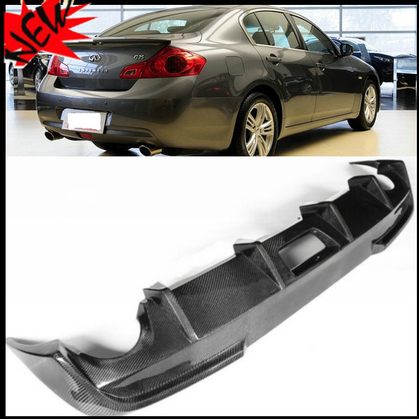 Carbon fiber Auto Car accessories G37 Rear Bumper lip Rear Diffuser ...