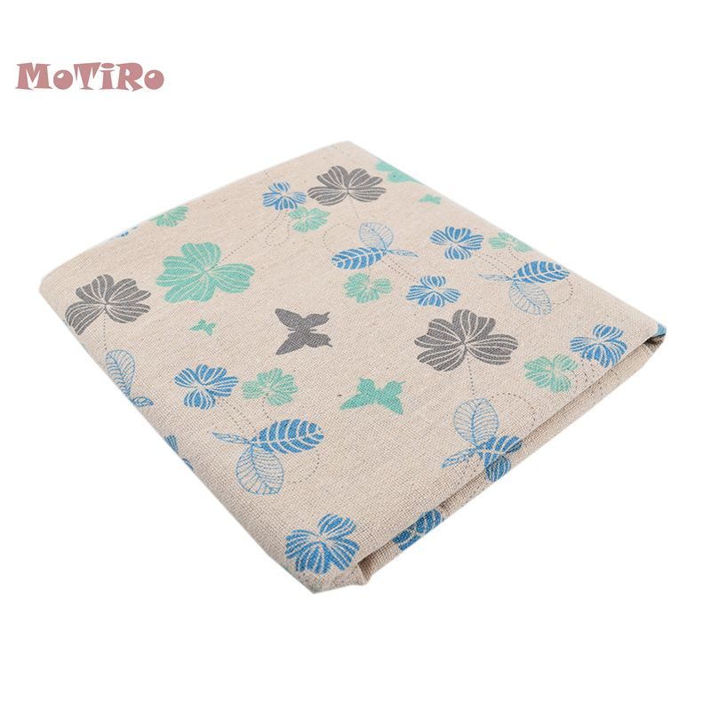 Motiro,printed Cotton Linen Fabric,half Meter,leaves Series Cloth For Quilting/sewing/curtain/bag/cushion Material/sofa/table Structural Disabilities Apparel Sewing & Fabric Fabric