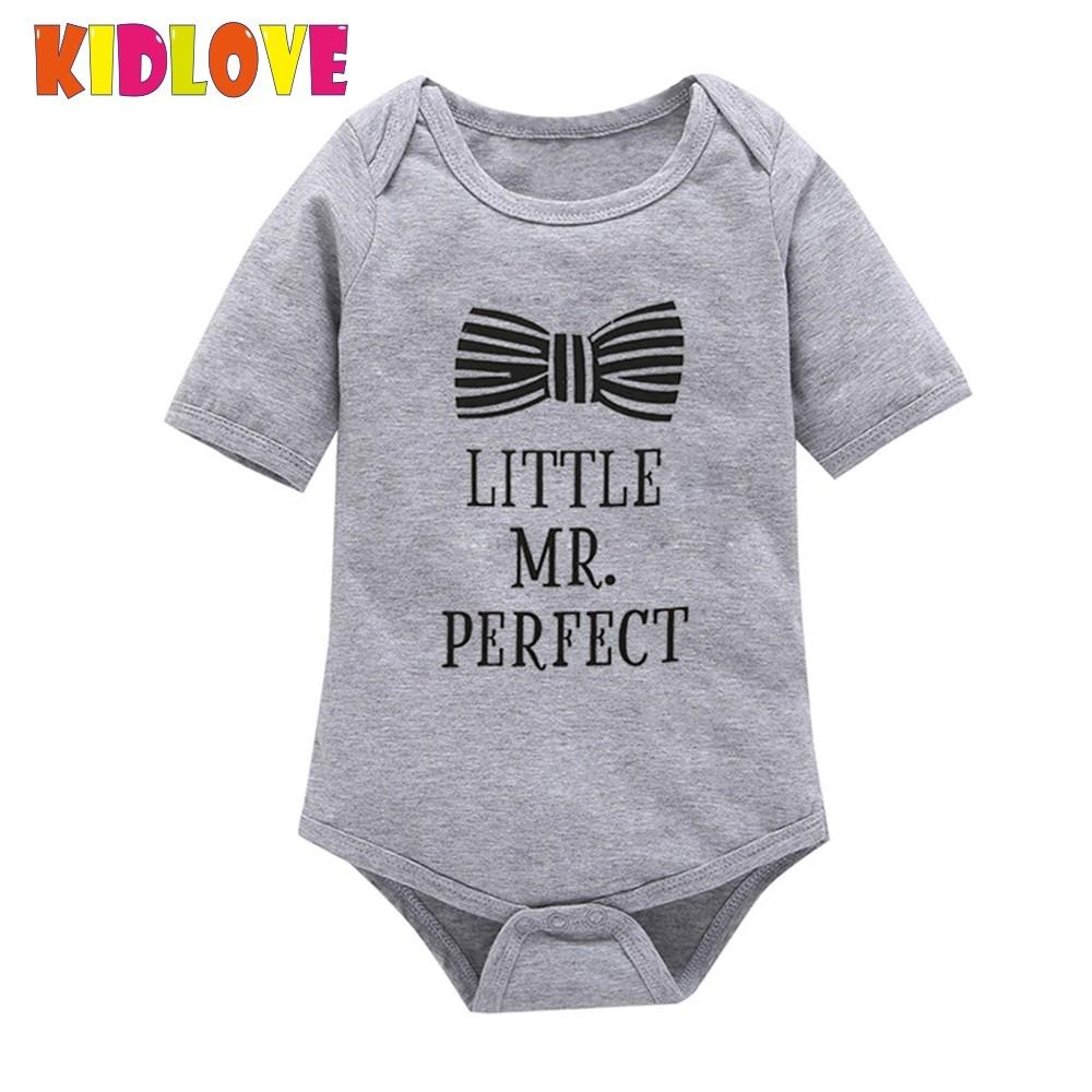 Kidlove Baby Boy Clothes Short Sleeve Gentleman Bowknot Romper Infant Jumpsuits Toddler Boys Clothing Set fashion new gift ZK30