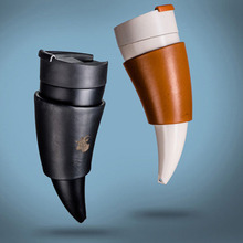 Goat Horns Stainless Steel Thermos Mug Coffee Cup Insulation Vacuum Thermos Flask
