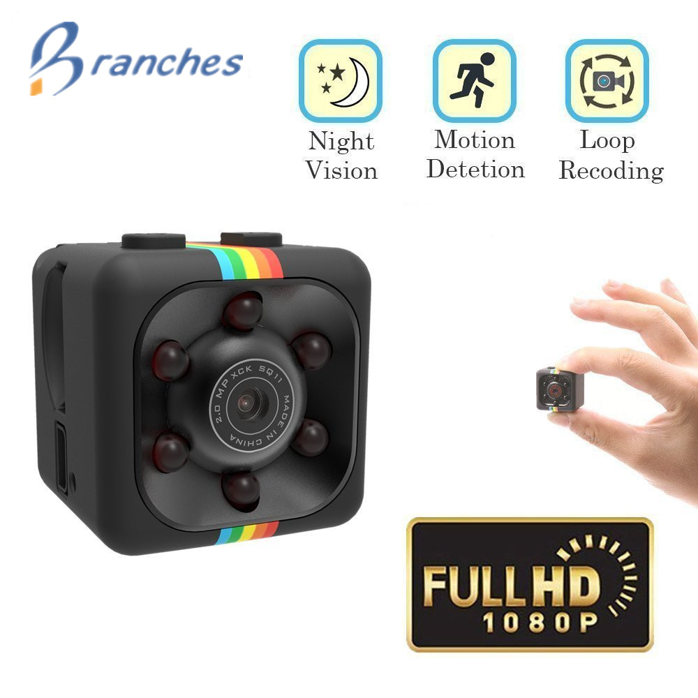 SQ11 1080P pequeño Mini cámara de visión nocturna Mini - Cámara y foto