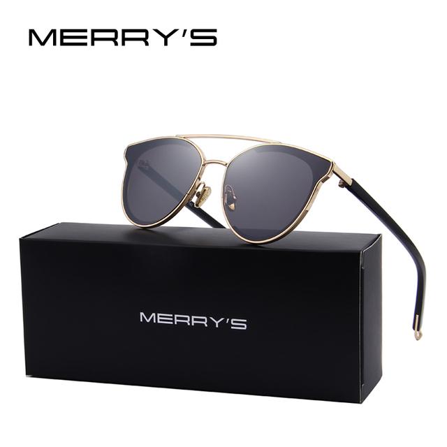 Merry's mujeres moda cat eye sunglasses classic diseñador de la marca gafas de sol s'8085