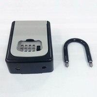 4 Digit Combination Lock Key Safe Storage Box Padlock Security Home Outdoor Supplies SD998