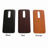 Real Leather Battery Door Cover For Motorola Droid Turbo 2 XT1581 X Force Black Red Orange