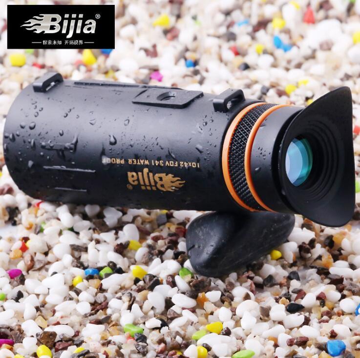 Bonne qualité 2016 De poche Monoculaire 10x42 Haute Puissance Télescope Monoculaire jumelles Grand Oculaire pour les sports extérieurs