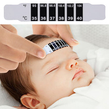10 pc  Baby Kids Forehead Strip Head Thermometer Fever Body Temperature Test 8.8cm*1.5cm Wholesale DropShipping