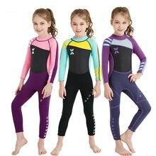 Цельный купальник с длинными рукавами UPF 50+ детский купальный костюм для дайвинга для девочек и мальчиков Солнцезащитный пляжный костюм гидрокостюм
