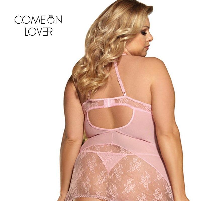 Comeonlover Dessous Sexy Hot Erotic Lace Transparente Halter Lingerie Femme Sexy Dentelle Plus Size Sexi Lingerie Porno RI80464 1