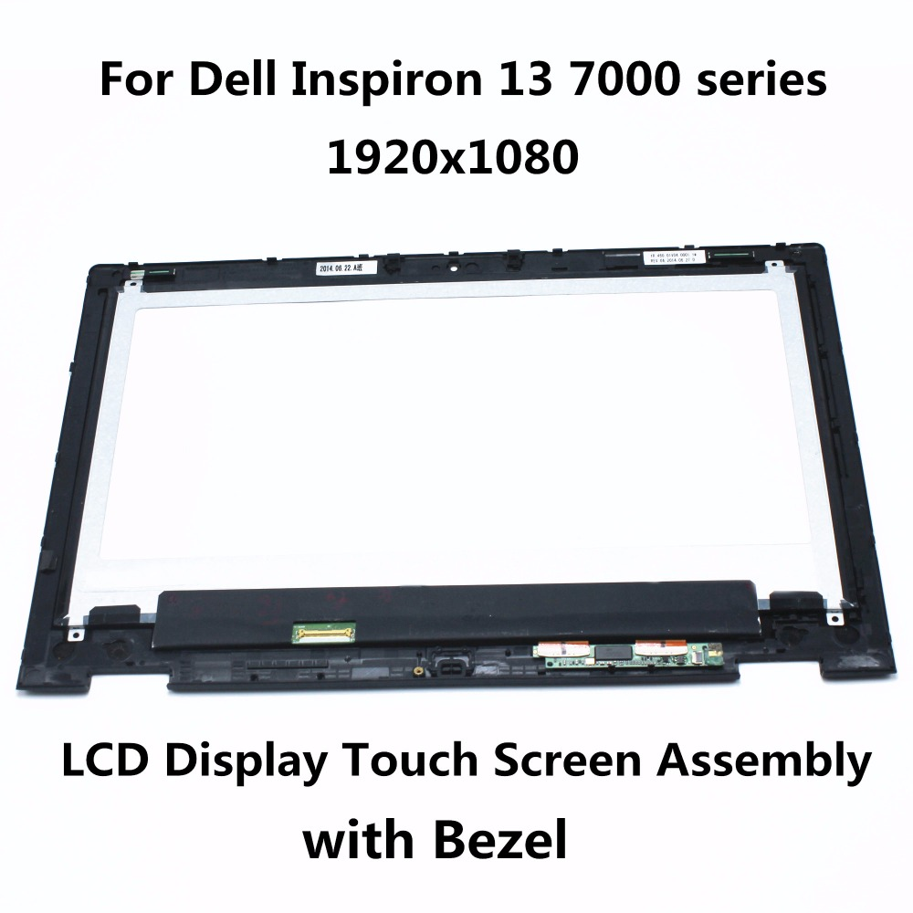 For Dell Inspiron 13 7000 series 7347 7348 7359 P57G LTN133HL03-201 LCD Display Touch Screen Panel Digitizer Assembly with Frame new 13 3 lcd touch screen glass assembly frame bezel for dell inspiron 13 7000 series 7348 p57g 1920x1080