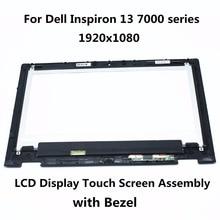 Para dell inspiron 13 7000 series 7347 7348 7359 p57g ltn133hl03-201 pantalla lcd panel de la pantalla táctil digitalizador asamblea con marco